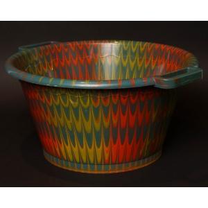 アフリカ セネガル プラスチック桶 (XL) No.4 カラフル マーブル バケツ|bogolanmarket