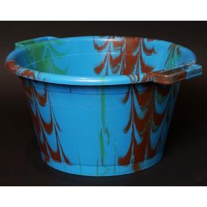 アフリカ セネガル プラスチック桶 (L)No.3 カラフル マーブル バケツ|bogolanmarket