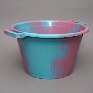 アフリカ セネガル プラスチック桶 (M)No.1 カラフル マーブル バケツ|bogolanmarket