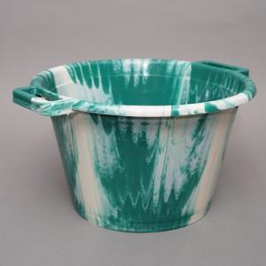 アフリカ セネガル プラスチック桶 (M)No.2 カラフル マーブル バケツ|bogolanmarket
