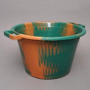 アフリカ セネガル プラスチック桶 (M)No.3 カラフル マーブル バケツ|bogolanmarket