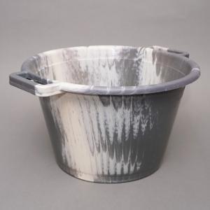 アフリカ セネガル プラスチック桶 (M)No.4 カラフル マーブル バケツ|bogolanmarket