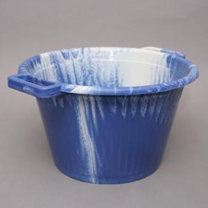 アフリカ セネガル プラスチック桶 (M)No.5 カラフル マーブル バケツ|bogolanmarket