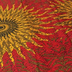 アフリカンワックスプリント 生地 パーニュ 布 No,318 (1ヤード(90cm)単位の切り売り布です。)|bogolanmarket
