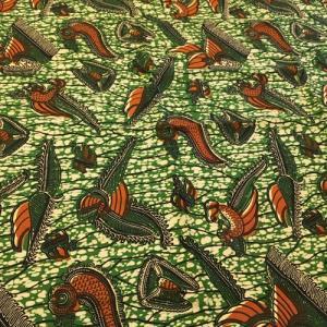 アフリカンワックスプリント 生地 パーニュ 布 No,32 (1ヤード(90cm)単位の切り売り布です。)|bogolanmarket
