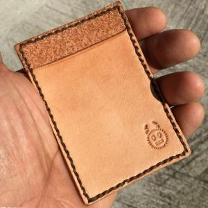アフリカンマスク刻印 パスケース No.6 カードケース 牛革 本革 手縫い ゴリプレプレ|bogolanmarket