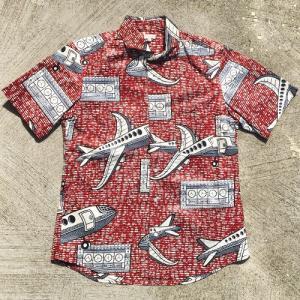 アフリカ マリ アフリカンワックスシャツ (半袖・Lサイズ)パーニュシャツ No.3|bogolanmarket