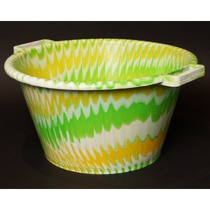 アフリカ セネガル プラスチック桶 (XL) No.3 カラフル マーブル バケツ|bogolanmarket