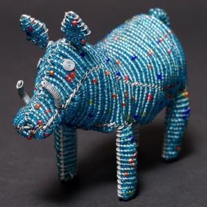 アフリカ ケニア ワイヤーアート ビーズアニマル (イボイノシシ)針金アート アフリカ雑貨 置物|bogolanmarket