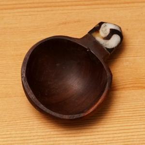アフリカ ケニア ローズウッド飾り付き 茶さじ (丸型)|bogolanmarket