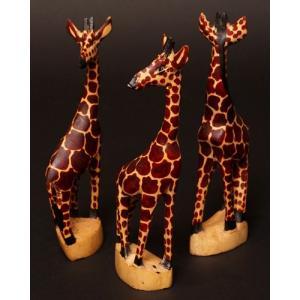 アフリカ ケニア キリン 木彫り 置き物 人形|bogolanmarket