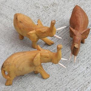 アフリカ ケニア 象 木彫り 置き物 人形|bogolanmarket