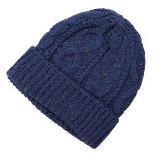 ケーブル編み ニットワッチ帽 ネップ アラン柄 大人気商品
