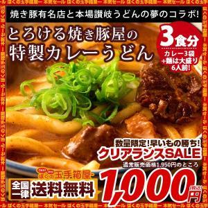 カレーうどん 焼き豚有名店のカレーうどん 3食セット (麺大...