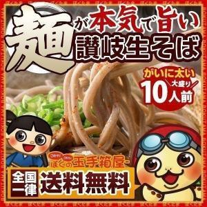 蕎麦 麺が本気で旨い 讃岐 生そば 300g×5袋  (大盛り10人前) 送料無料 (セット パック) セール