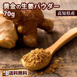 ポイント消化 高知県産  しょうがパウダー 粉末  蒸し生姜 黄金のしょうが粉末70g しょうが 生姜 生姜パウダー 送料無料 お試し|bokunotamatebakoya