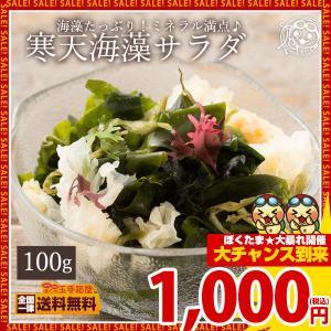 海藻サラダ 10種類の寒天海藻サラダ 100g 送料無料 1000円 ポッキリ 「 寒天 かんてん ワカメ わかめ キクラゲ きくらげ」|bokunotamatebakoya