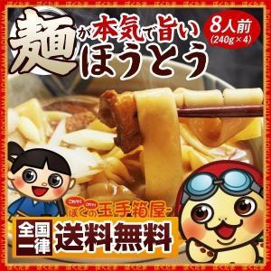 【全国一律送料無料】ゆっくりじっくりと延ばした平打ち生麺ほうとう。 旬の野菜、お肉とそのまま煮込んで...