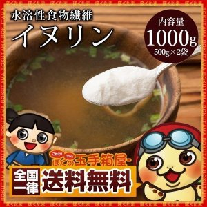 イヌリン 水溶性食物繊維 1kg (500g×2)  [ 粉末  送料無料 サプリ サプリメント サトウキビ ]|bokunotamatebakoya