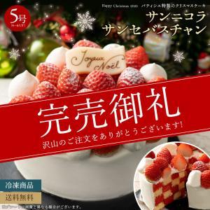 クリスマスケーキ 2020 予約 『デコラシオン ドゥ サパンセバスチャン』  送料無料 サンセバスチャン  5号 [ クリスマス ケーキ スイーツ ギフト]  冷凍便|bokunotamatebakoya