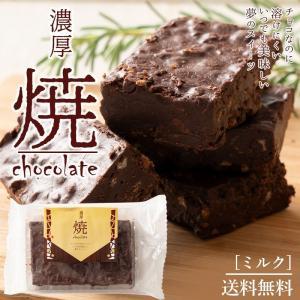 チョコレート 送料無料 焼きチョコ ブラウニー 2種類から1種が選べる [ 溶けないチョコレート ミルク/ホワイト お試し チョコ ポイント消化 ] スイーツ