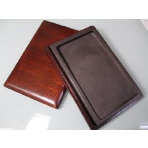 麻子抗端渓硯 長方 8吋(木箱入り) 固形墨 bokusaisha