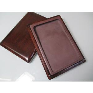宋抗端渓硯 長方 6吋(木箱入り) 固形墨 bokusaisha
