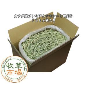 牧草市場 カナダ産 プレミアム チモシー 1番刈り 10kg 袋入