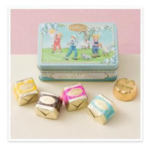 カファレル Caffarel Newリバイバル小缶(Blue) チョコレート(5粒入り)  ★動物と...