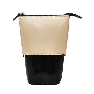 ブラシ 筆 ファイル 道具 ポーチ 収納 化粧品 サロン@ボンネイル ポッピングケース エナメルベージュ×ブラック _754994|bon-bon