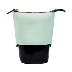ブラシ 筆 ファイル 道具 ポーチ 収納 化粧品 サロン@ボンネイル ポッピングケース エナメルミント×ブラック _754995|bon-bon