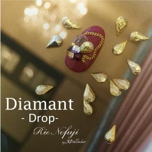 ジェルネイル アート パーツ メタル アンティーク 素材 デコ @Diamant Drop _a0239 bon-bon