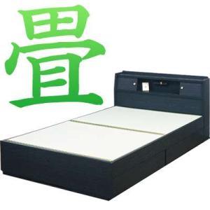 ベッドフレーム セミダブル ベッド 木製 フラット シンプル 収納 宮付 照明付 おしゃれ 畳ベッド アジアン おしゃれ おすすめ|bon-like