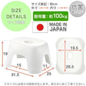 お風呂グッズ 日本製 バスチェア バスチェアー 風呂いす お風呂椅子 お風呂桶 湯手桶 湯手おけ 洗面器 湯おけ おしゃれ バスグッズ 風呂 2点セット ポイント10倍|bon-like|03
