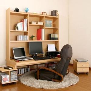 パソコンデスク ロータイプ 木製 パソコン デスク ロータイプ 4点セット 幅150cm デスク 上置棚 チェスト ラック おしゃれ 人気 収納|bon-like
