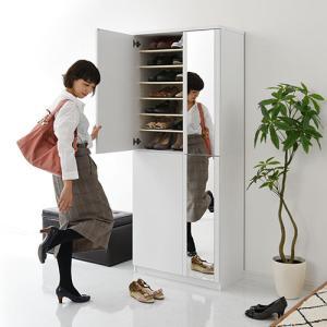 日本製 下駄箱 シューズボックス ラック ブーツスタンド 可動棚 幅75cm 56足収納 ハイタイプ 木製 玄関 通気性 安心 安定 物置き 国産 国内製品 日本産|bon-like|04