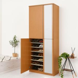 日本製 下駄箱 シューズボックス ラック ブーツスタンド 可動棚 幅75cm 56足収納 ハイタイプ 木製 玄関 通気性 安心 安定 物置き 国産 国内製品 日本産|bon-like|07
