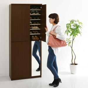 日本製 下駄箱 シューズボックス ラック ブーツスタンド 可動棚 幅75cm 56足収納 ハイタイプ 木製 玄関 通気性 安心 安定 物置き 国産 国内製品 日本産|bon-like|08