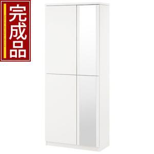 【完成品】 日本製 下駄箱 シューズボックス ラック ブーツスタンド 可動棚 幅75cm 56足収納 ハイタイプ 木製 玄関 通気性 安心 安定 物置き 国産 国内製品の写真
