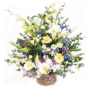 お彼岸 お供え 花 フラワーアレンジメントMIX028|bon-sense