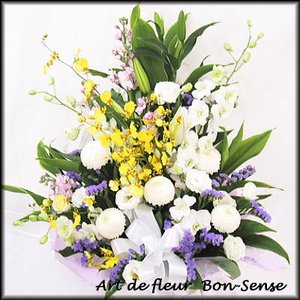 お供え 花 フラワーアレンジメントWMIX031|bon-sense