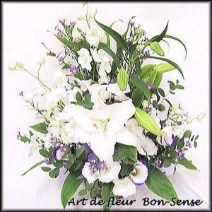 お供え 花 フラワーアレンジメントWM035|bon-sense
