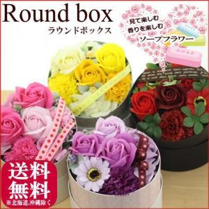≪ラウンドボックス≫ソープフラワー ギフト プレゼント カーネーション|bon-sense