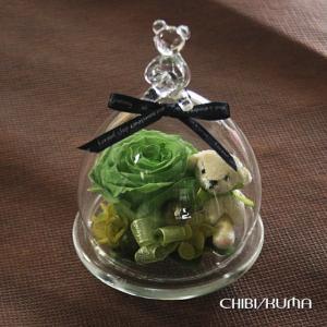 ガラスドーム 温度で色が変わる 魔法のプリザーブドフラワーちび・KUMA|bon-sense