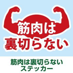 筋肉は裏切らない ステッカー 流行語 筋肉体操 耐水 シール|bonabona