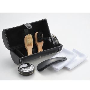 靴磨きセットL 7点セット シューケアセット ブラシ 布 クリーム 靴ヘラ 4209200|bonanzashop