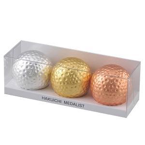 ゴルフボール メダリストセット A105-99015 箔一 金沢箔|bonanzashop