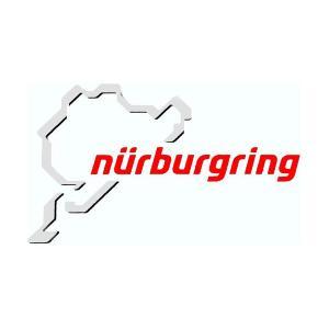 ニュルブルクリンク ステッカー グレー/レッド  12cm NRA9929A