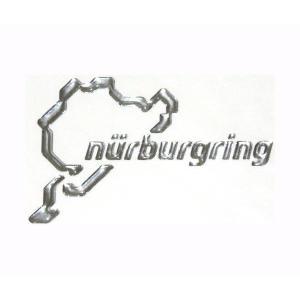 ニュルブルクリンク 立体ステッカー シルバー 12cm NRA9935A