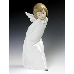 リヤドロ(Lladro リアドロ 陶器人形 置物) 天使 天使の考え事(解ってきたぞ)#ldr-4960